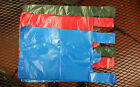 100 Plastic T-Shirt Retail / Grocery Shopping Bags w/ Handles RED-BLUE-DarkGreeN