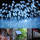 100/200 LED Solar Powered Fairy String Lights Garden Christmas Outdoor Lighting
