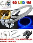 1 Metre Waterproof DIMMABLE LED Strip Tape, 1M 12V 60 SMD, Adaptors & remotes