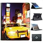 Yellow Taxi Cab in New York Times Square USA Leather Case For iPad 2, 3 & 4