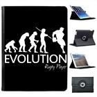 Evolution Of A Rugby Player Folio Wallet Leather Case For iPad 2, 3 & 4