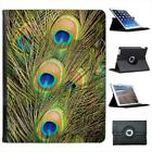 Peacock Feathers Folio Wallet Leather Case For iPad 2, 3 & 4