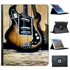 Rock N Roll Guitar Folio Wallet Leather Case For iPad 2, 3 & 4