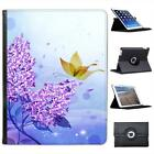 Purple Flower & Butterfly Magical Scene Folio Leather Case For iPad 2, 3 & 4