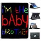 I'm The Baby Brother Folio Wallet Leather Case For iPad 2, 3 & 4