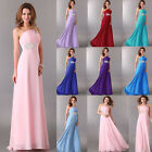 Ladies Chiffon Evening Prom Dress Formal Party Long Gowns Size UK 6-20