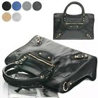 NEW-ZIANT MEDIUM MOTORCYCLE TOTE SHOULDER BAG PREMIUM GENUINE CALFSKIN LEATHER