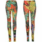 Iron Fist Womens Ladies Leggings Jeggings Stretch Fit All Over Floral Print