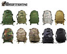 10Color US Army Tactical Hiking Hunting 3Day Molle Assault Backpack Black/TAN B