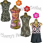 New Womens Celebrity Style Summer 2014 Playsuit Ladies Jumpsuit Size 8 10 12 14