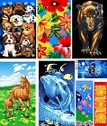 100% COTTON NEW ANIMAL PRINT CHILDRENS LARGE BEACH BATH TOWELS BOYS / GIRLS