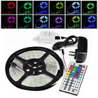 5m RGB 3528 300 LED SMD Flexible Light Strip Lamp+44 Key IR+12V 2A Power Supply