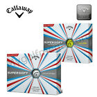 Callaway 2017 SuperSoft Golf Balls 1 Dozen either in White or Yellow - New