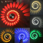 Spiral 3W LED Wall Sconce Stairs Porch Hall Bar studio Light Decor Fixture Lamp