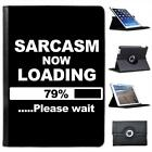 Sarcasm Now Loading Funny Joke Folio Wallet Leather Case For iPad Air & Air 2