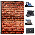 Brick Wall Folio Wallet Leather Case For iPad Air