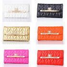 Luxury Leather Bling Diamond Bowknot Wallet Flip Case Cover For iPhone5 5S 4 4S