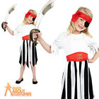 Child Pirate Girl Costume Buccaneer Caribbean Girls Kids Book Week Fancy Dress