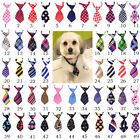 Wholesale New Pattern Polyester Silk Pet Dog Necktie Adjustable Bow Tie Grooming