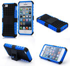 Blue HEAVY DUTY TOUGH SHOCKPROOF WITH STAND HARD CASE COVER FOR iPhone5 5S TZJB