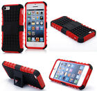 Red HEAVY DUTY TOUGH SHOCKPROOF WITH STAND HARD CASE COVER FOR iPhone5C TZJR