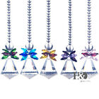 New Crystal Glass Conical Drop Octagon Bead Wedding Chandelier Curtain Pendant