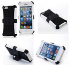 White HEAVY DUTY TOUGH SHOCKPROOF WITH STAND HARD CASE COVER FOR iPhone5C TZJW