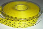 "5/8"" 15mm wide Diamond & Cross Pattern Yellow Grosgrain Ribbon"