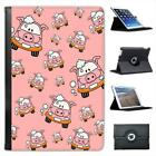 Cute Pig Car Being Washed With Bubbles Folio Leather Case For iPad Mini & Retina