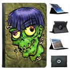 Zombie Monster With Worms In Head Halloween Leather Case For iPad Mini & Retina