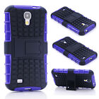 Purple HEAVY DUTY TOUGH SHOCKPROOF STAND CASE COVER FOR Samsung Galaxy S4 TZJZ