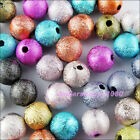 4mm 6mm 8mm 10mm 12mm New Stardust Acrylic Round Ball Spacer Beads Charms Mixed