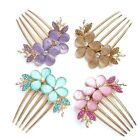 Gorgeous Crystal Flower Rhinestone Hair Pin Clips Barrette Comb hairpin Bridal