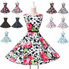 Vintage Ball Cocktail Evening Prom Party Dress Housewife Swing Pinup Rockabilly