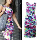 Ladies Womens Midi Dress Summer Long Skirt Evening Cocktail Party UK Size 6-14