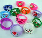 Wholesale Multicolor Round Shaped Chunky Lucite Ring 10-100pcs