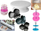 Baking Accesories Rolling Pin/ Cake Tins/ Turntable/ Springform Trays Decorating