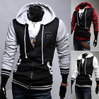 Fast Cool Mens Warm Hoody Casual Cotton Jacket Coat Hoodies Outerwear Tops Coat