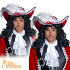 Adult Authentic Pirate Hat Captain Hook Mens Fancy Dress