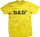 Dad To The 2nd Second Power Fathers Day Math Nerd Pops Daddy Family Mens T-shirt