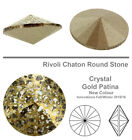 Genuine SWAROVSKI 1122 Rivoli Round Stone Foiled Glue Fix Many Colors