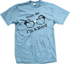 Trust Me Im A Nerd Black Rim Glasses Funny Geek Humor Bookworm Mens T-shirt