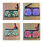 Thai Hmong Tribal Ethnic Flower Embroidered Clutch Purse Bag Handbag Thailand