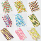 25Pcs/Lot Party Weeding Decorations Kids Colorful Striped Drinking Paper Straws