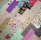 MIXED CHARM PACK 100% COTTON PATCHWORK FABRIC 4in SQUARES QUILTING SEWING E235