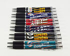 * Set of 2 * NFL Football Click Pens w/ Rubber Grip and Chrome - Pick your team! $11.99 USD on eBay