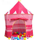New Portable Folding Play Toy Tent Kids Princess Prince Castle Fairy Cubby House