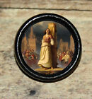 Saint St JOAN of ARC at STAKE Altered Art Tie Tack or Ring or Brooch pin