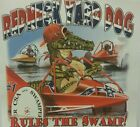 DIXIE REDNECK YARD DOG GATOR RULES THE SWAMP REBEL SOUTHERN SHIRT #2565