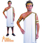 Adult Julius Caesar Costume Mens Roman Greek Toga Fancy Dress Outfit New